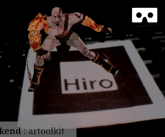 Dancing Kratos in AR